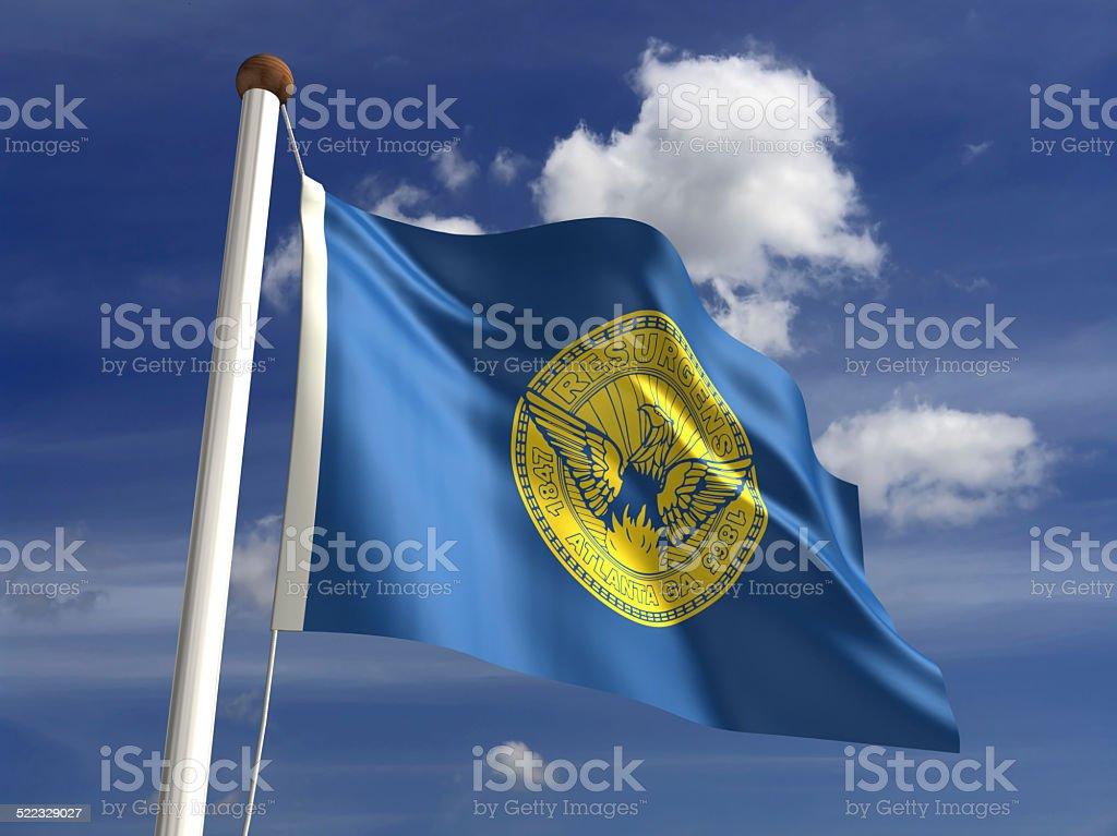 Atlanta City flag stock photo