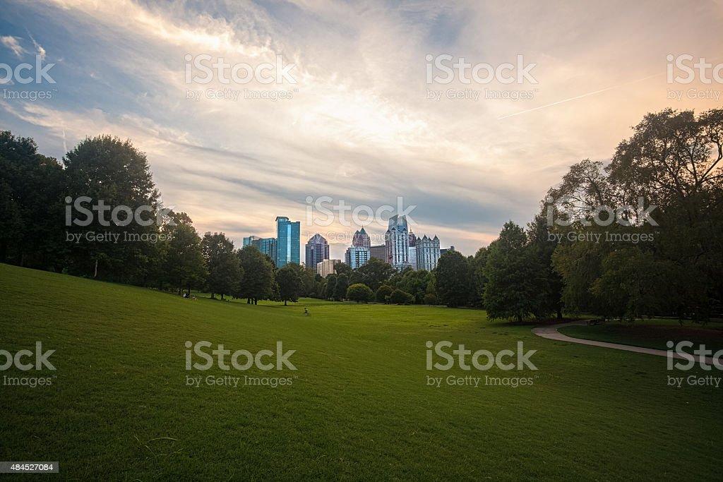 atlanta daytime skyline stock photo
