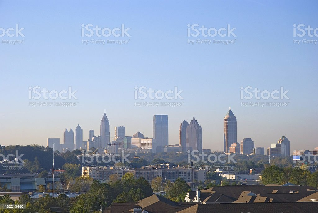Atlanta Downtown and Midtown skyline stock photo