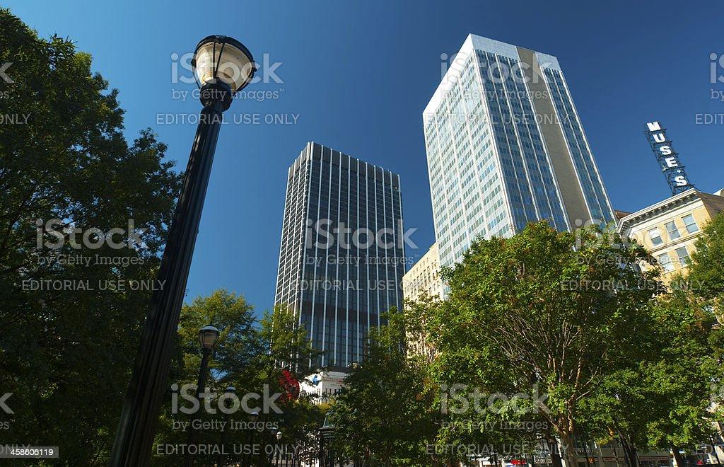 Atlanta downtown scene stock photo