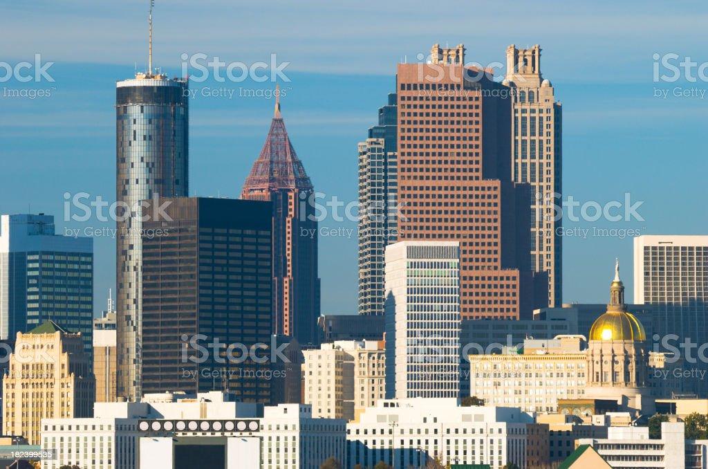 Atlanta downtown skyline closeup royalty-free stock photo