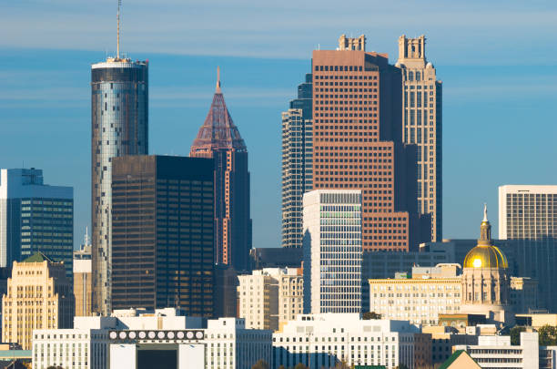 Atlanta downtown skyline closeup stock photo