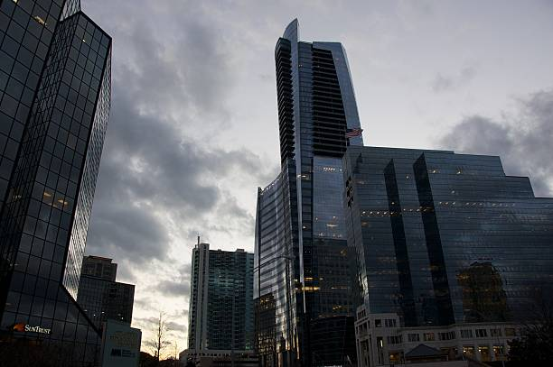 Atlanta Financial Center at Dusk stock photo