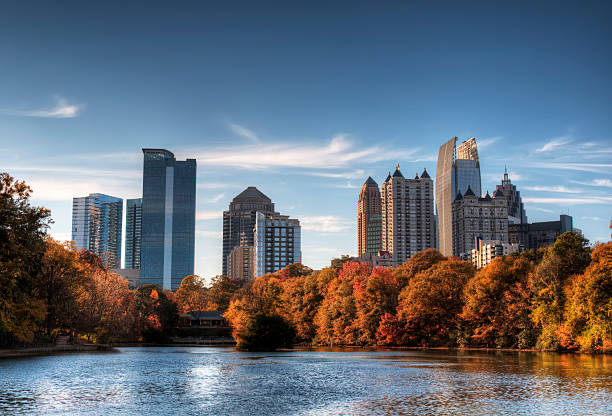 Atlanta From Piedmont Park stock photo