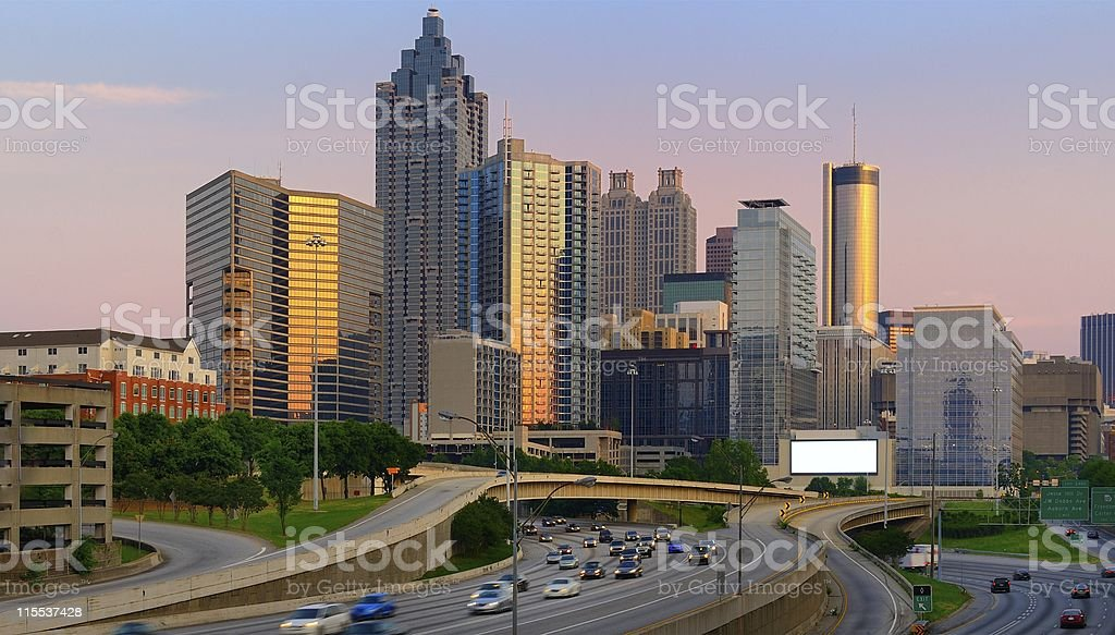 Atlanta Georgia at Dusk stock photo