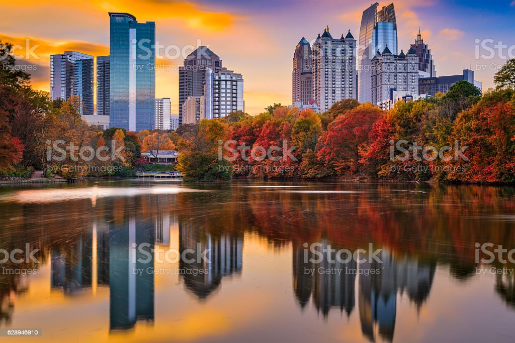 Atlanta Georgia Autumn stock photo