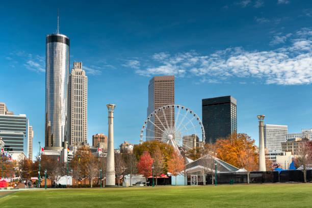 Atlanta Georgia downtown city skyline stock photo