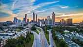 istock Atlanta Georgia GA Downtown Skyline Aerial Panorama 1165409774