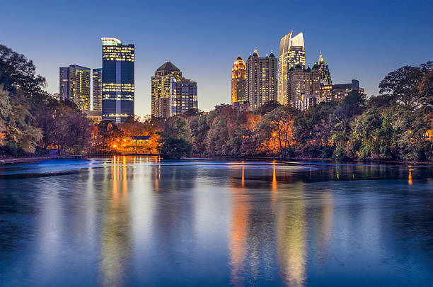 Atlanta, Georgia Piedmont Park Skyline stock photo