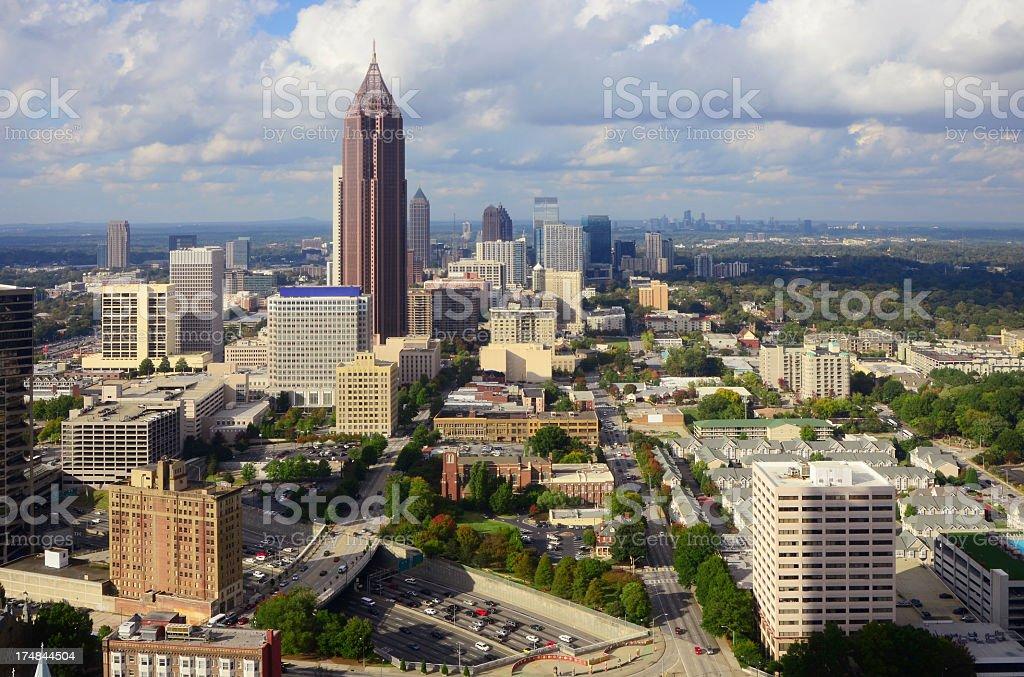 Atlanta, Georgia Skyline royalty-free stock photo