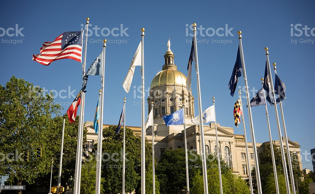 Atlanta Georgia State Capital Gold Dome City Architecture stock photo