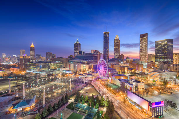 Atlanta, Georgia, USA Dawn Skyline stock photo