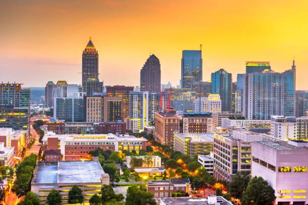 Atlanta, Georgia, USA Downtown Cityscape stock photo