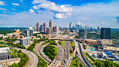 Atlanta, Georgia, USA Downtown Skyline Aerial.