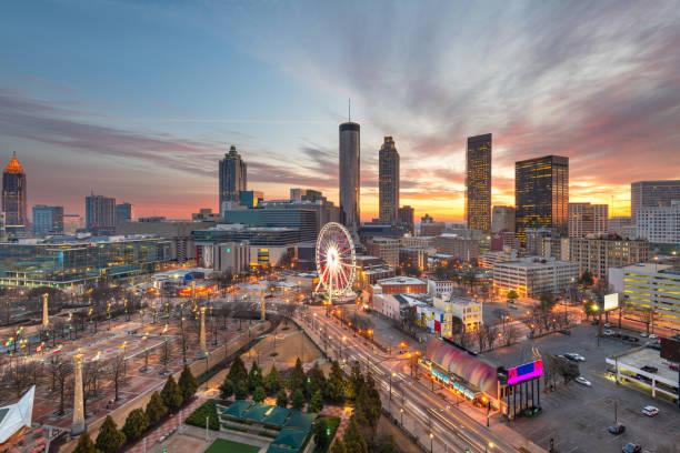 Atlanta, Georgia, USA Downtown Skyline stock photo