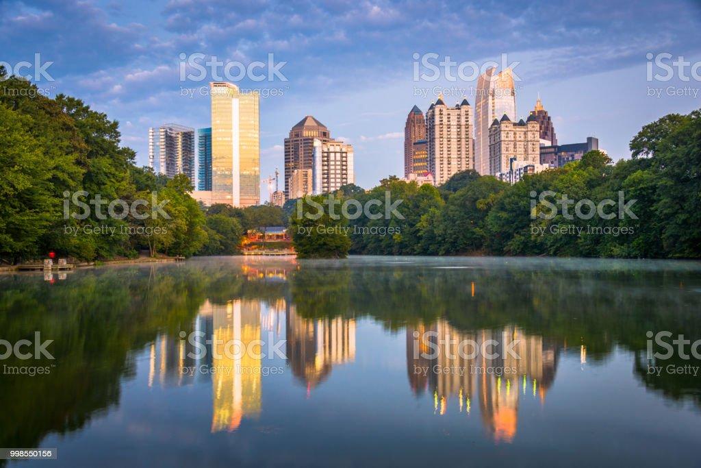 Atlanta, Georgia, USA Midtown Skyline Atlanta, Georgia, USA midtown skyline from PIedmont Park. Apartment Stock Photo