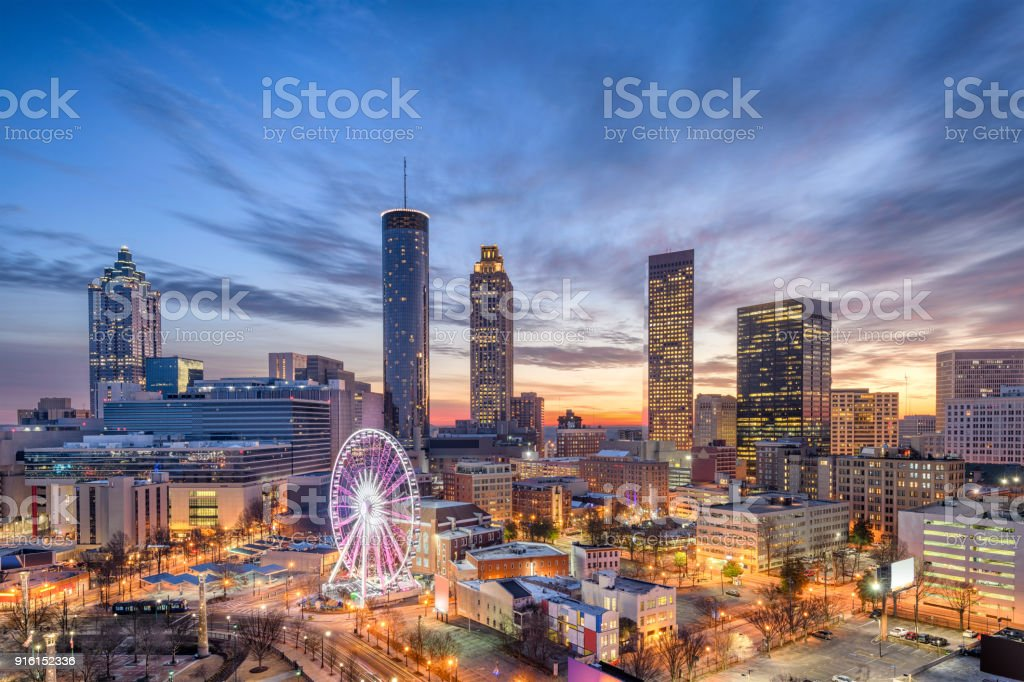 Atlanta, Georgia, USA Atlanta, Georgia, USA downtown city skyline. Apartment Stock Photo