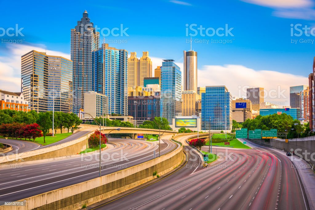 Atlanta, Georgia, USA Skyline stock photo