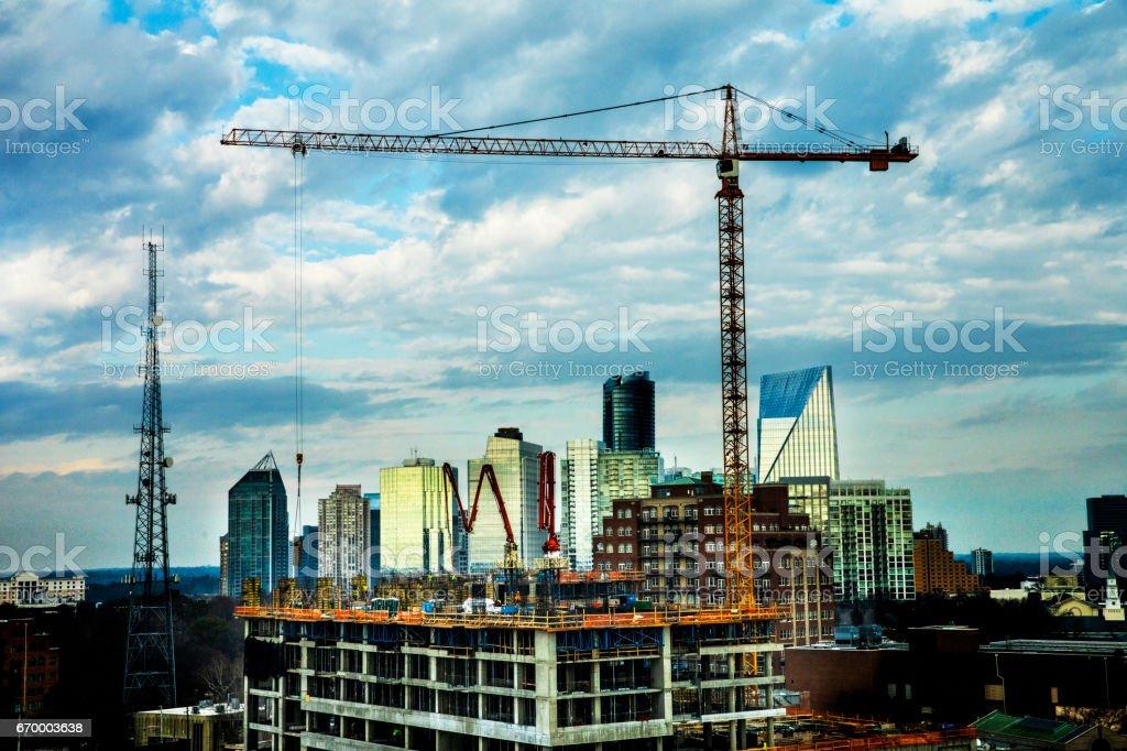 Atlanta Highrise Construction stock photo