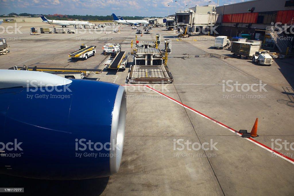 Atlanta International Airport Tarmac XL royalty-free stock photo