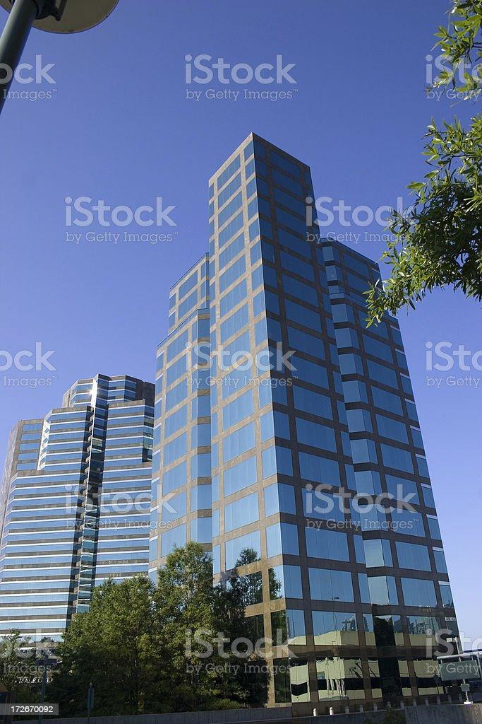 Atlanta modern hotel architecture stock photo