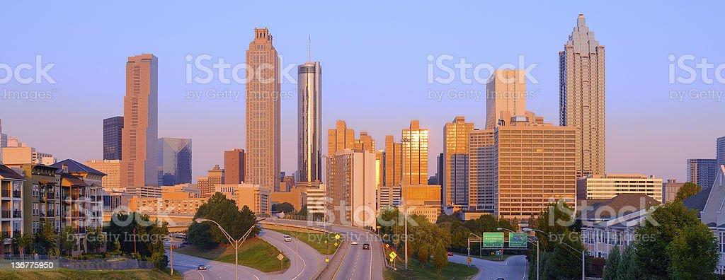 Atlanta Morning Panorama stock photo