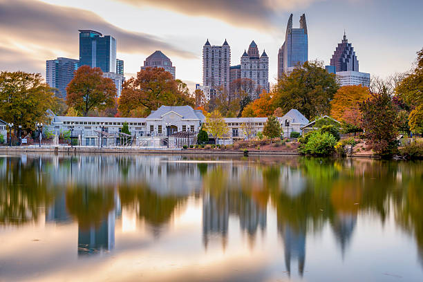 Atlanta Park Skyline stock photo