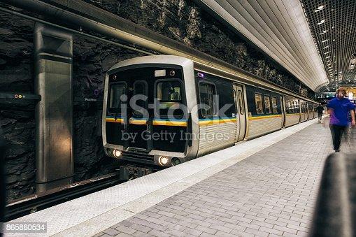 Train system underground
