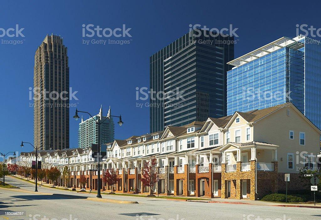 Atlanta Real Estate (Atlantic Station development) stock photo