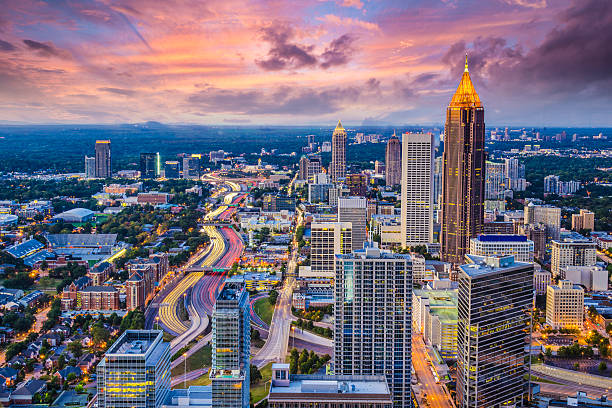 Atlanta Skyine stock photo