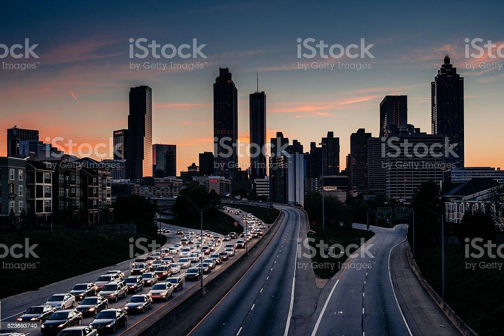 Atlanta Skyline at Dusk stock photo