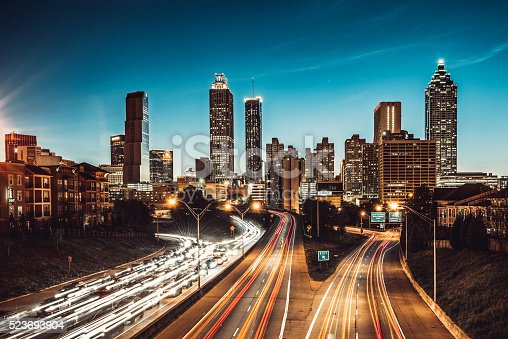istock Atlanta Skyline at Dusk 523693904