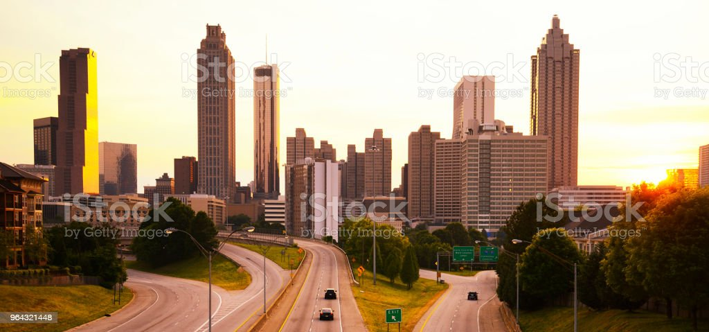 Atlanta skyline, Georgia USA stock photo