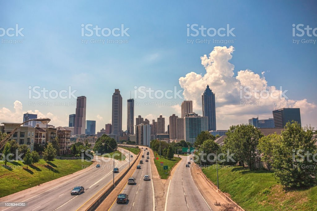 Atlanta skyline in the day stock photo