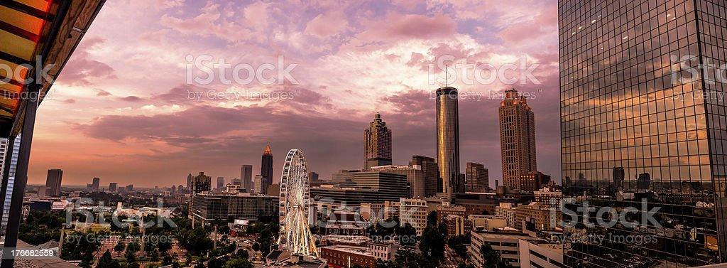Atlanta Skyline Panoramic stock photo