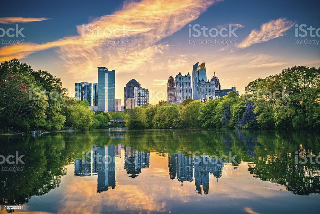 Atlanta Skyline royalty-free stock photo