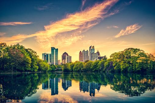 Atlanta Skyline at dusk, Georgia. USA.