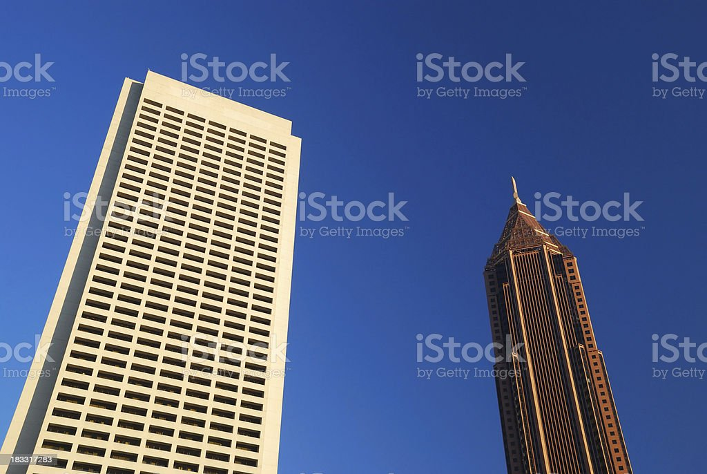 Atlanta skyscrapers stock photo