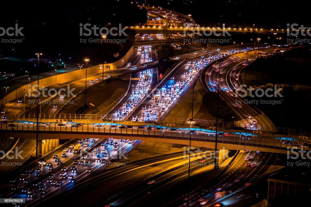 Atlanta-Verkehr in der Innenstadt von Atlanta – Foto