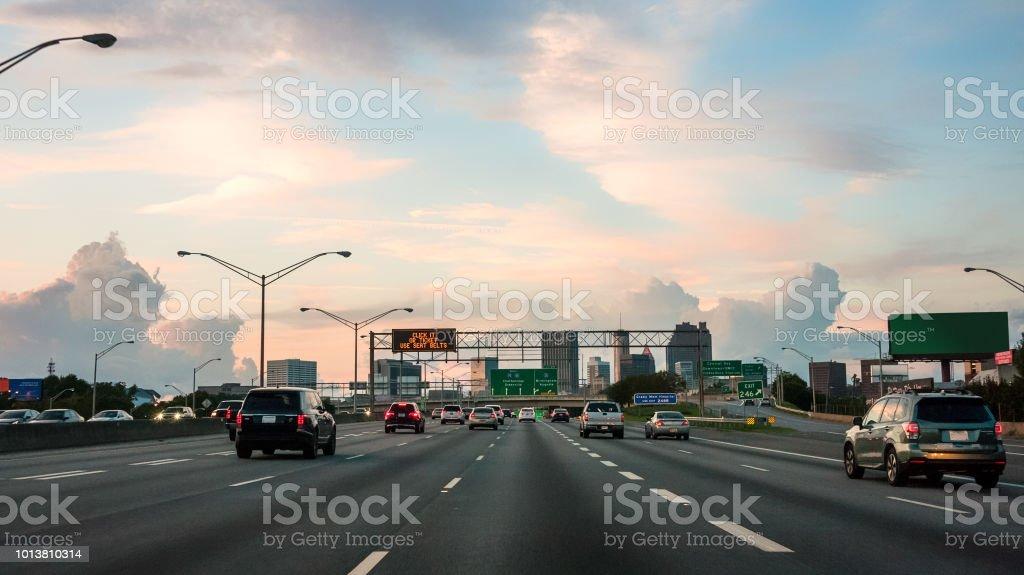Atlanta traffic stock photo