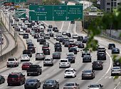 Atlanta interstate traffic headed North toward Downtown