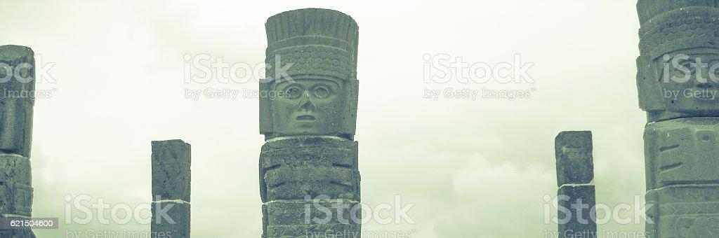 Atlantean figures at the top of the pyramid Lizenzfreies stock-foto