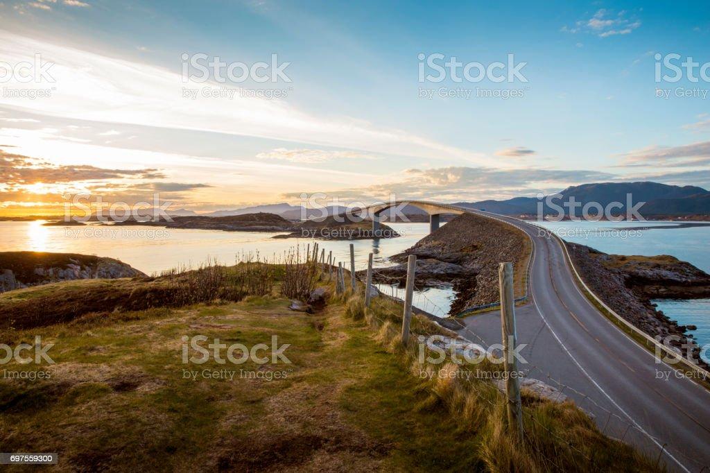 Atlanterhavsvegen - Atlantic Road, Norway stock photo