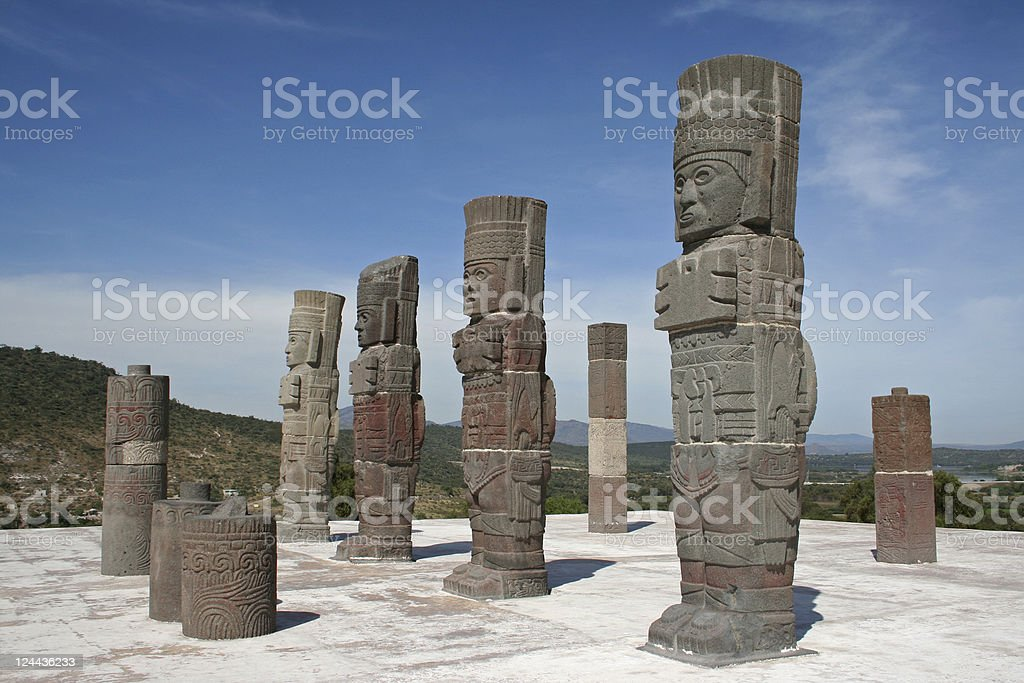 Atlantes in Tula stock photo