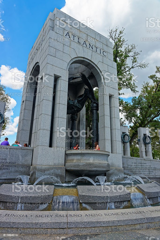 Atlantic Arch in National WWII memorial stock photo