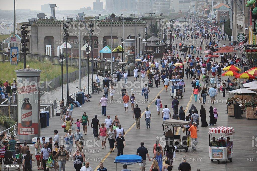 Atlantic City Boardwalk in New Jersey stock photo