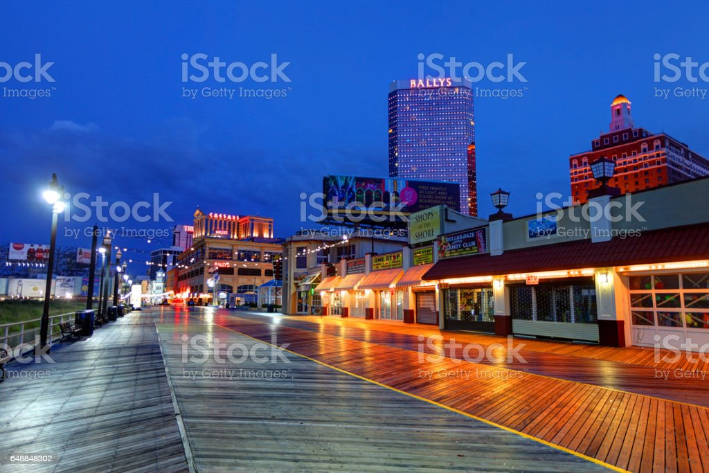 Atlantic City Boardwalk stock photo