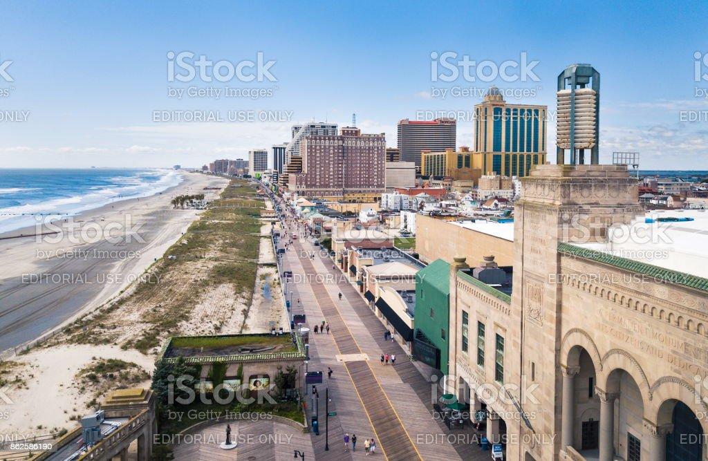 Atlantic city boardwalk stock photo