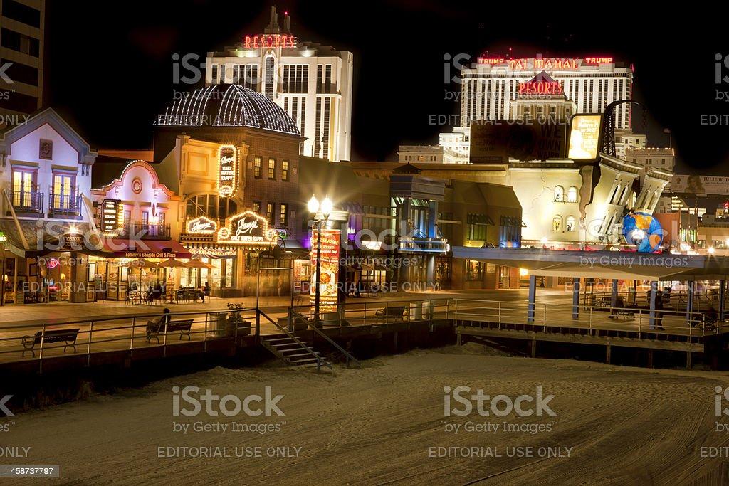 Atlantic City Casinos and Boardwalk stock photo