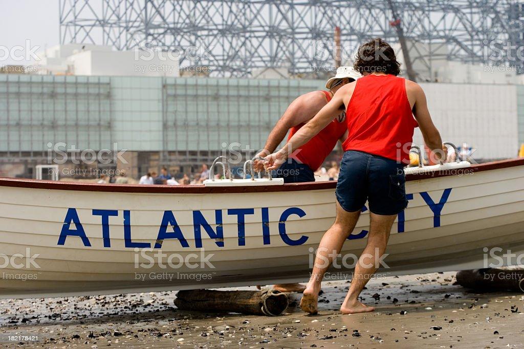 Atlantic city lifeguards royalty-free stock photo